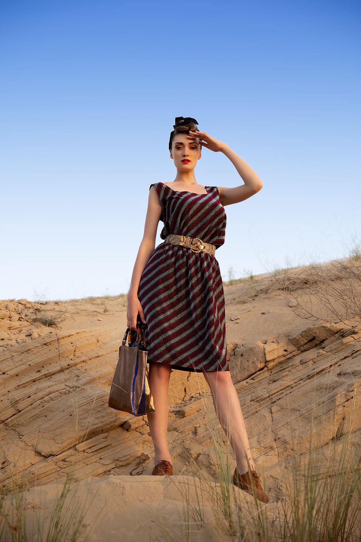 Desert photoshoot We Are Mesh by Loesje Kessels Fashion Photographer Dubai