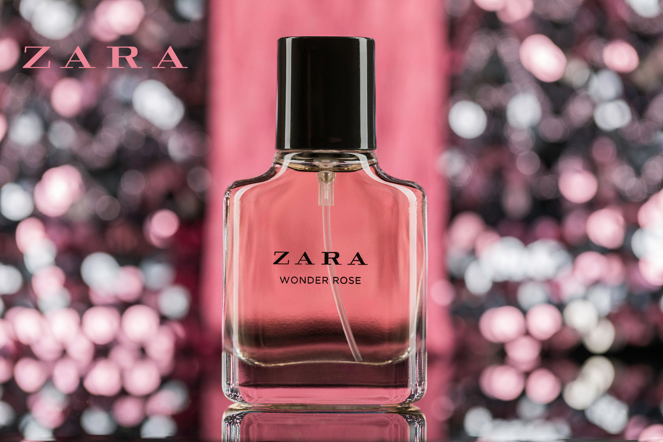Commercial photography of Zara Wonder Rose by Loesje Kessels Fashion Photographer Dubai