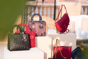 Display of DIOR Cruise 2020 bag collection by Loesje Kessels Event Photographer Dubai