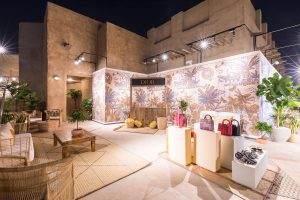 Evening decor of DIOR Cruise 2020 collection presentation by Loesje Kessels Event Photographer Dubai