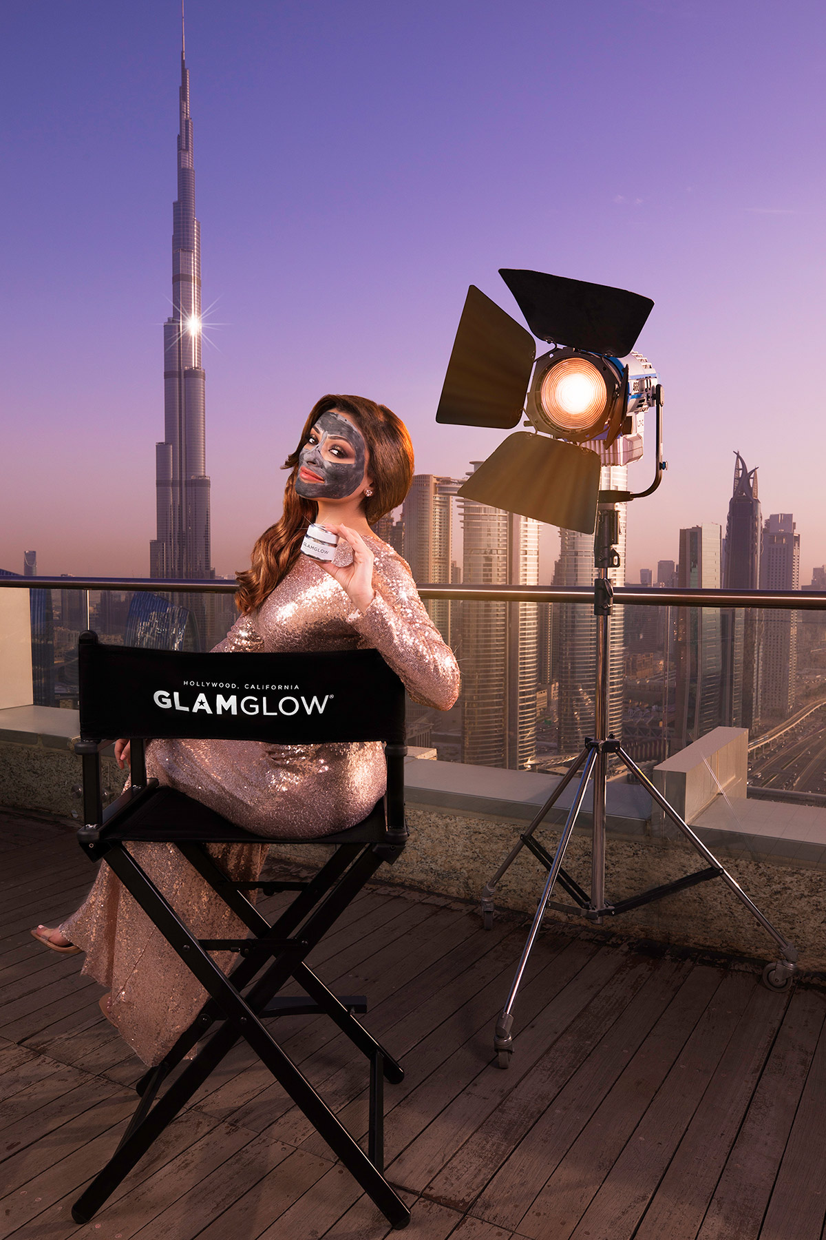 GlamGlow campaign shoot in Dubai for Estee Lauder by Loesje Kessels