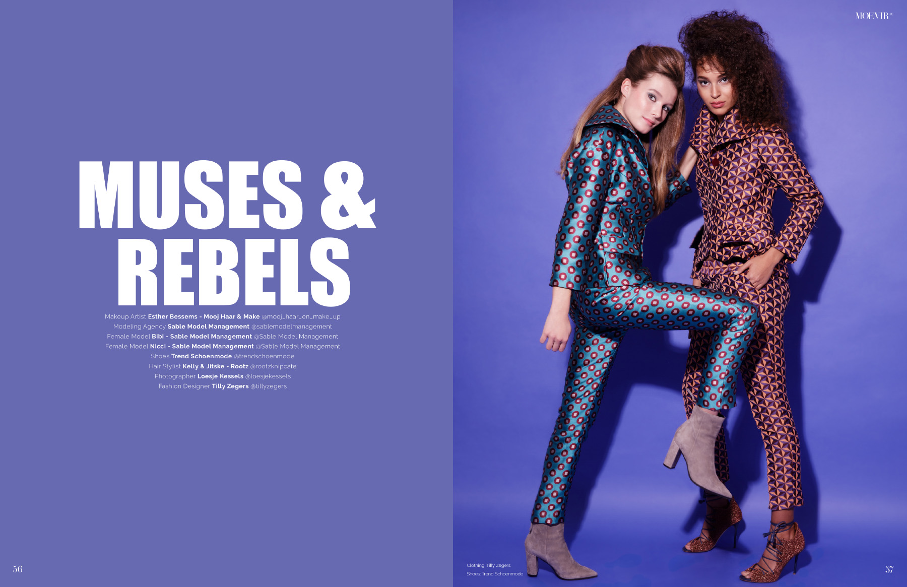 Editorial fashion shoot with Sable Model Management Nicci and Bibi by Loesje Kessels Mode Fotograaf Amsterdam
