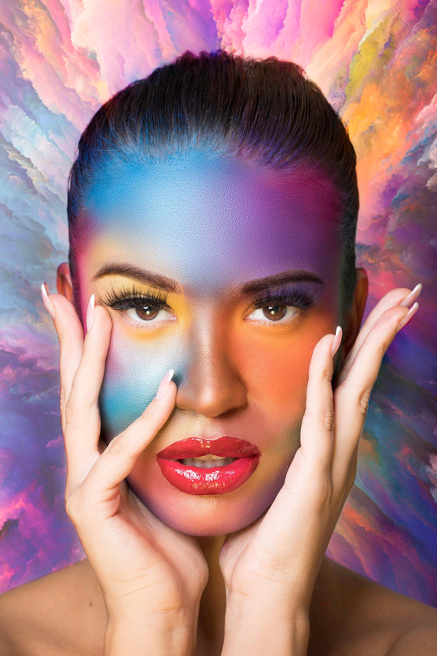 Beauty editorial photoshoot 'Colors Galore' by Loesje Kessels Fashion Photographer Dubai