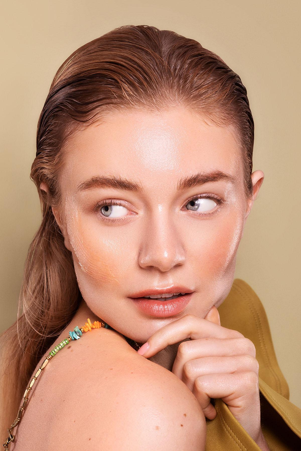 Beauty editorial photoshoot with model Jazzlyn Koene Fresh 'n Fruit for iMirage Magazine by Loesje Kessels