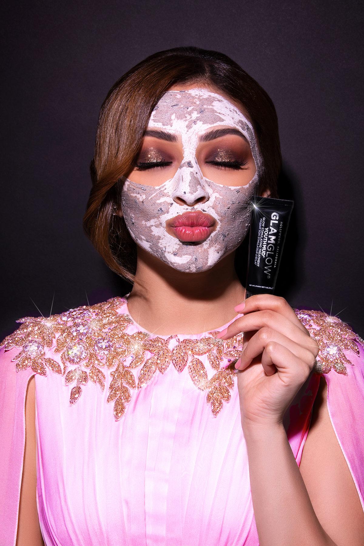 Glam Glow Campaign shoot for Estée Lauder with Shouq Al Hadi by Loesje Kessels